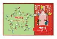 Merry Everything Holiday Wine Bottle Necklace & Napkins