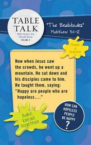 Table Talk Volume 2- Table Talker Signs (5 Sets of 6) : Bible Stories You Should Know