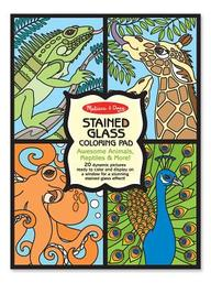Stained Glass Coloring Pad- Animals
