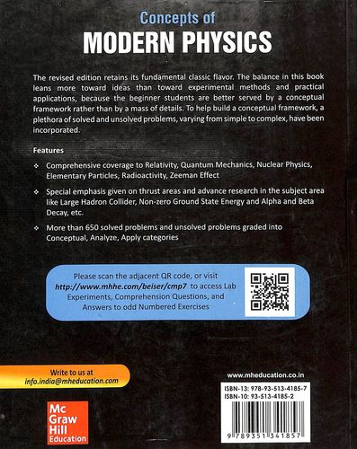 Buy Concepts Of Modern Physics book : Arthur Beiser,Shobhit