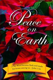 Peace on Earth Christmas Poinsettia Bulletin 2012, Regular (Package of 50)