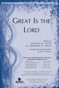 Great Is the Lord- SATB
