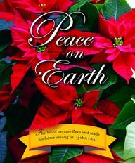 Peace on Earth Christmas Poinsettia Bulletin 2012, Large (Package of 50)