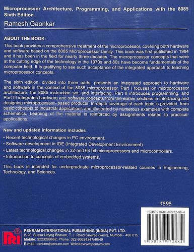 Buy Microprocessor Architecture Programming & Applications
