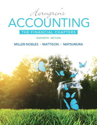 Horngren's Accounting, The Financial Chapters (11th Edition)
