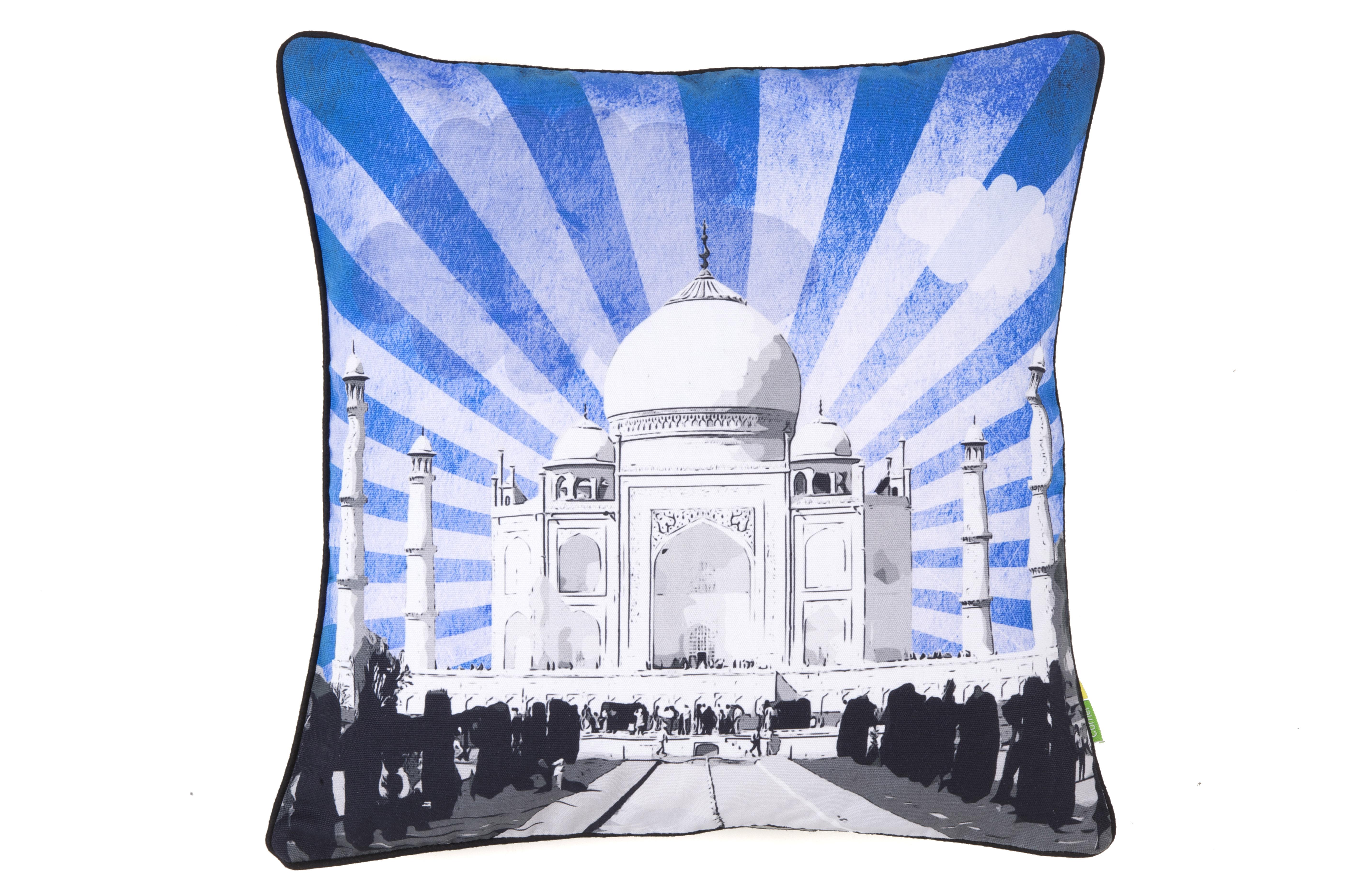 Eco Corner Taj Mahal Sunburst Cushion Cover