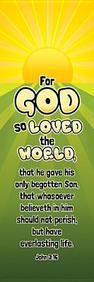 For God So Loved the World Kids Bookmark: John 3:16