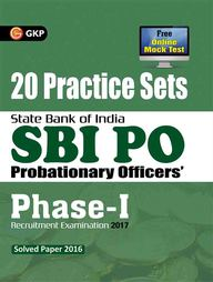 Sbi Po 20 Practice Sets Phase 1 Recruitment Examination 2017