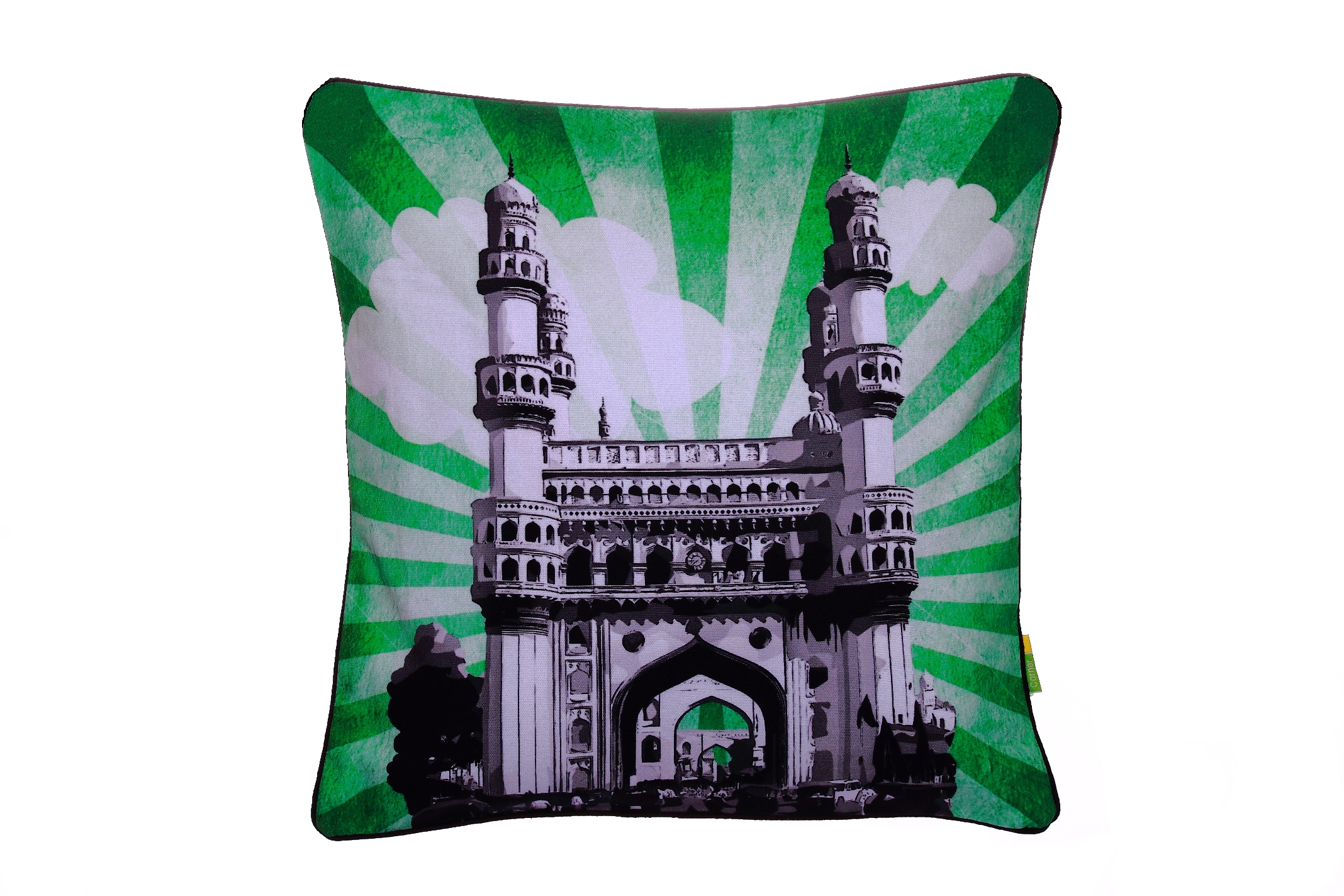 Eco Corner Charminar Sunburst Cushion Cover