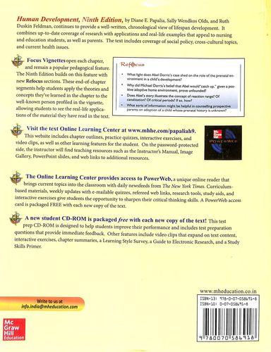 Buy Human Development W/Cd book : Diane E Papalia,Sally