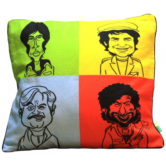 Eco Corner Sholay with Gabbar Cushion Cover