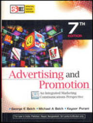 Buy Advertising And Promotion Book George E Belch 0070144966 9780070144965