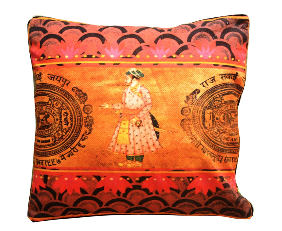 Eco Corner Indian King Cushion Cover