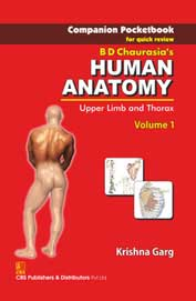 Bd Chaurasias Human Anatomy Vol 1 Companion Pocket Book For Quick Review Upper Limb & Thorax