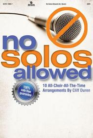No Solos Allowed Orchestration/Conductor's Score Cd-Rom