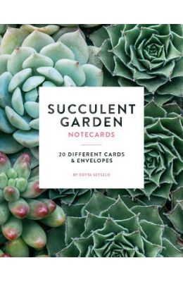 Succulent Garden Notecards: 20 Different Cards and Envelopes