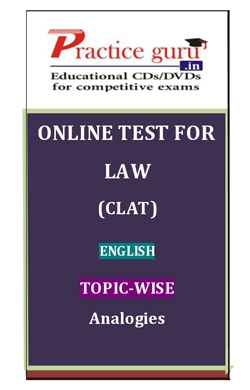 Online Test for Law: CLAT: English: Topic-Wise: Analogies