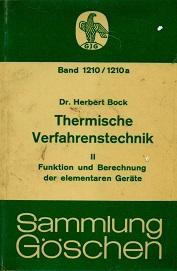 THERMISCHE VERFAHRENSTECHNIK -2(Thermal Processing 2)