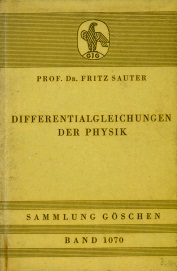 DIFFERENTIALGLEICHUNGEN DER PHYSIK( Differential Equations in Physics)