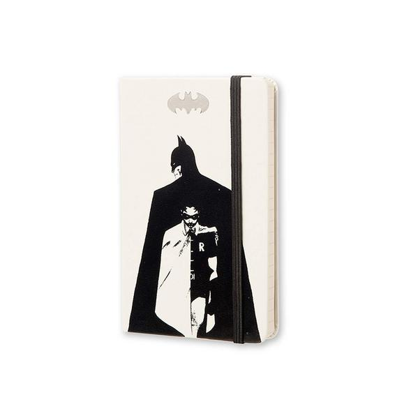 Batman Notebook Hard Cover - White - Pocket