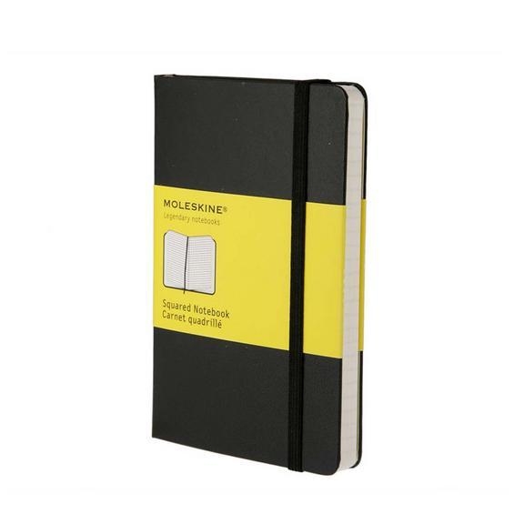Squared Notebook - Black - Pocket