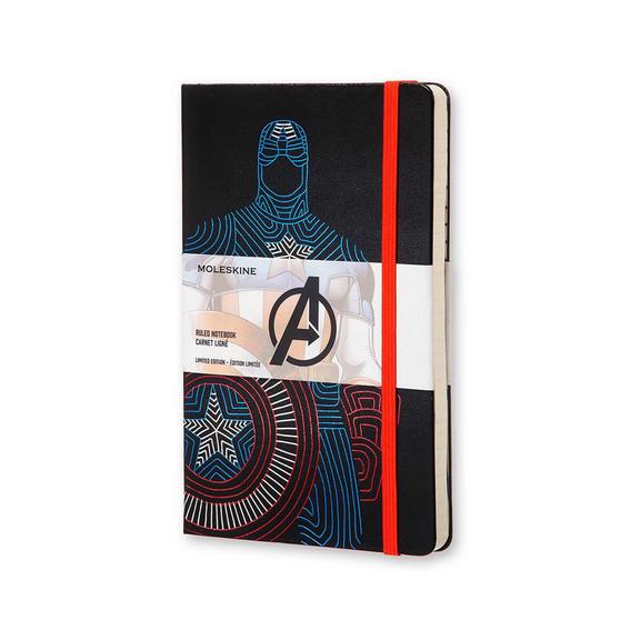 The Avengers Limited Edition Captain American Black Ruled Hard Cover Large