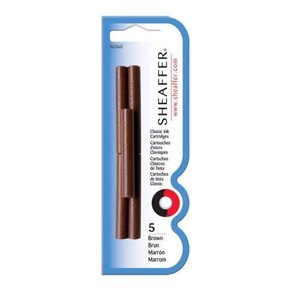 Pack Of 5 - Skrip Brown Ink Cartridges
