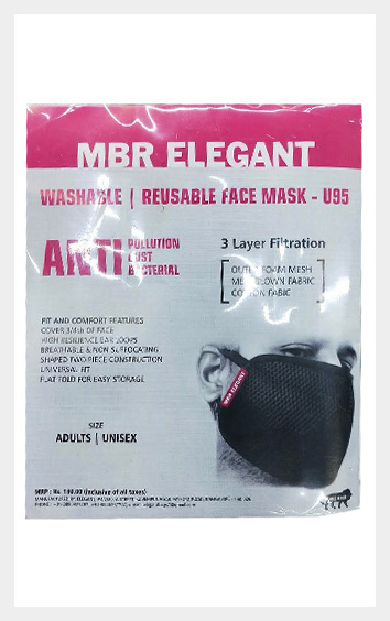 Elegant Washable Face Mask Set of 3