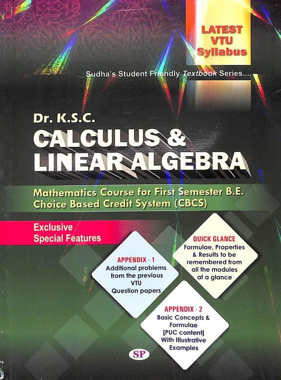 Calculus & Linear Algebra For 1 Sem : Be