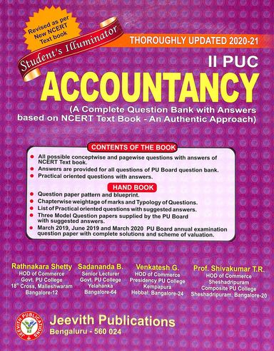 Accountancy 2nd Puc : Students Illuminator A Complete Question Bank With Answers