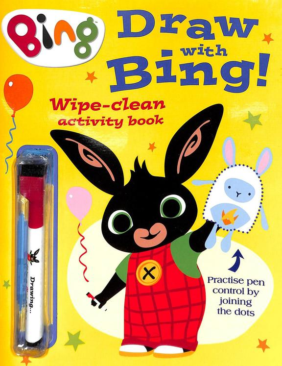Draw With Bing : Wipe Clean Activity Book