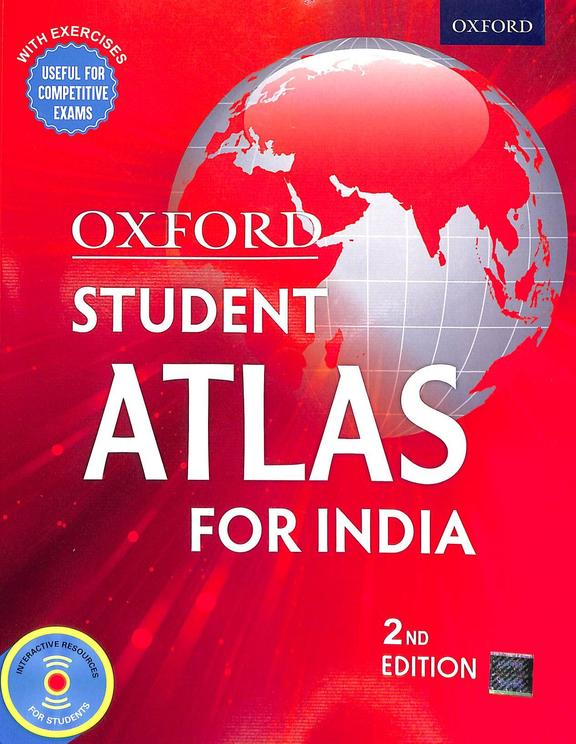 Oxford Student Atlas For India With Exercises Useful For Competitive Exams W/Cd
