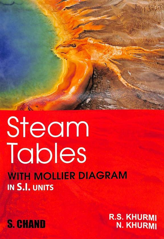 Steam Tables With Mollier Diagram : Si Units