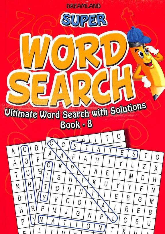 Super  Word Search Ultimate Word Search With Solution  Book  8