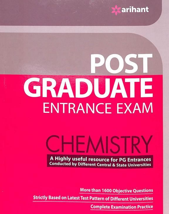 Chemistry Post Graduate Entrance Exam : Code J553