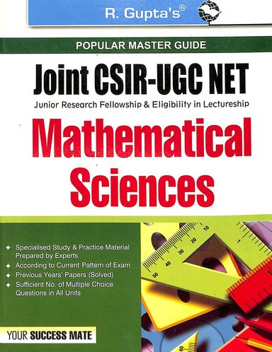 Popular Master Guide Mathematical Sciences Joint Csir Ugc Net : Code   R- 754