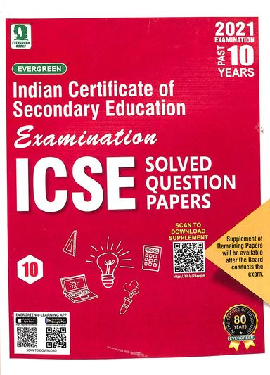 Icse Solved Question Papers Class 10 Past 10 Years For 2021 Examination