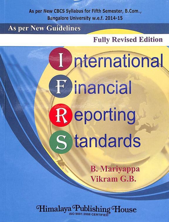 International Financial Reporting Standards For 5 Sem Bcom : Bu
