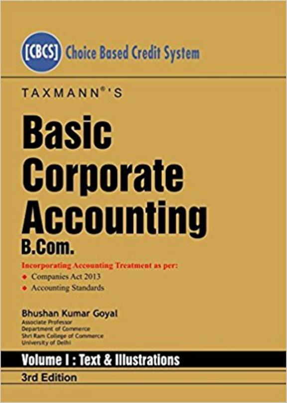 Basic Corporate Accounting B.Com  Set Of 2 Vols