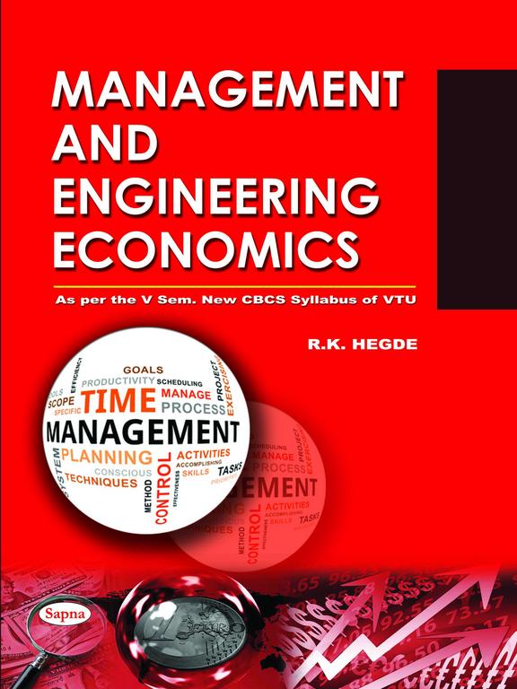 Management & Engineering Economics For 5 Sem Be : Vtu