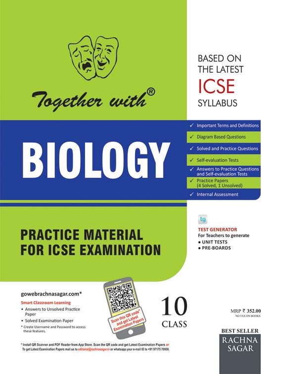 Together With Biology Practice Material For Icse Examination Class 10