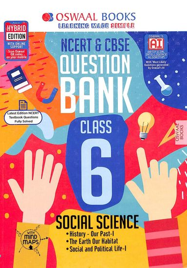 Ncert & Cbse Question Bank Social Science Class 6 For March 2020 Exam