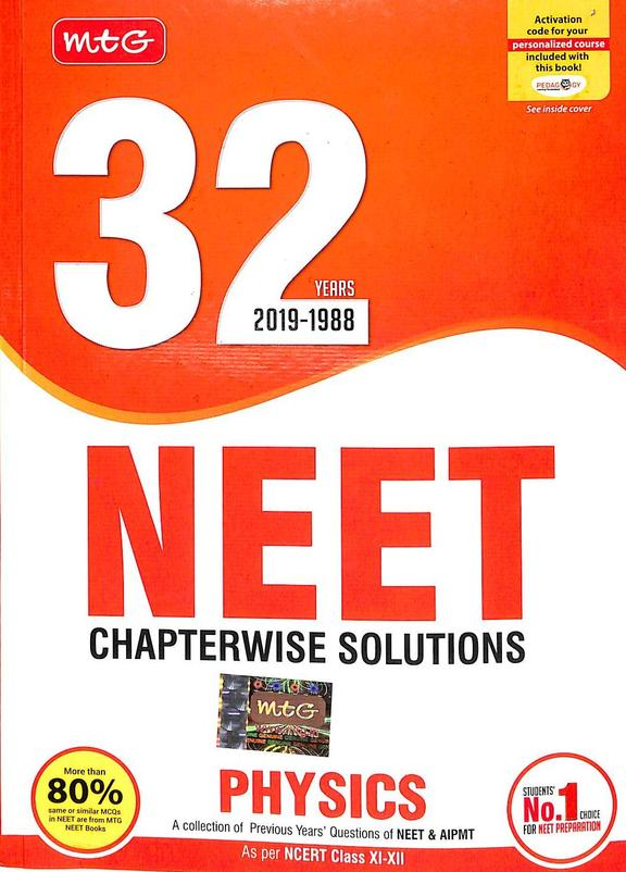 Physics 32 Years 2019-1988 Neet Chapterwise Solutions