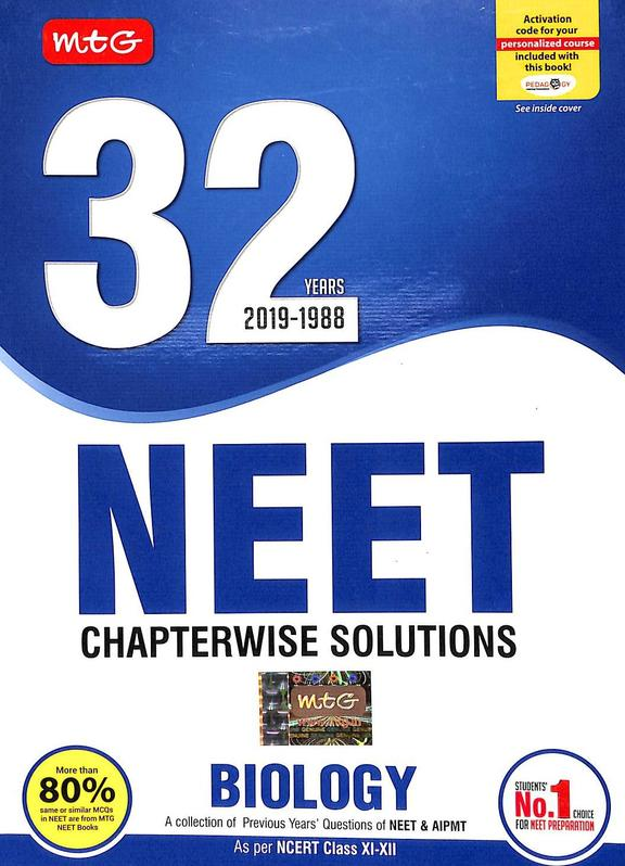 Biology 32 Years 2019-1988 Neet Chapterwise Solutions